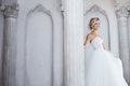 Charming Young Bride In Luxurious Wedding Dress. Pretty Girl, The Photo Studio Stock Photography - 78933732
