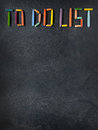 Text  To Do List  Created With Oil Pastels On Slate Stock Image - 78935861