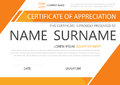 Orange Elegance Horizontal Certificate With Vector Illustration ,white Frame Certificate Template With Clean And Modern Pattern Royalty Free Stock Photos - 78938378