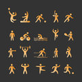 Gold Silhouettes Of Athletes Royalty Free Stock Photography - 78959427