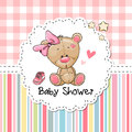 Baby Shower Greeting Card With Bear Stock Image - 78971691