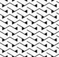 Vector Modern Abstract Geometry Triangle Pattern. Black And White Seamless Geometric Background Stock Photography - 78974632