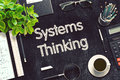 Systems Thinking On Black Chalkboard. 3D Rendering. Royalty Free Stock Photos - 78980978