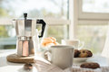 Early Morning French Home Breakfast With Coffee Stock Image - 78986391