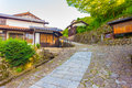 Nakasendo Magome Town Hilly Entrance Stone Path H Royalty Free Stock Image - 78990776