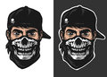 The Guy In The Bandana With A Skull Pattern. Stock Image - 78997221