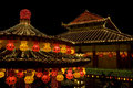 Temple Lighted Up For Chinese New Year Stock Image - 7900111