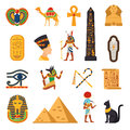 Egypt Touristic Icons Set Royalty Free Stock Image - 79000206