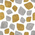 Seamless Background Of  Golden And Silver Mosaic Royalty Free Stock Photos - 79005558