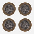 1 EUR Coins From Greece Royalty Free Stock Photo - 79016315