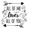 Typography Romantic Poster About Love. Quote. Stock Image - 79039481