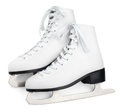 White Figure Skates Stock Images - 79040514