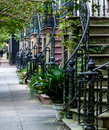 Wrought Iron On Old Townhouses Stock Photography - 79040812