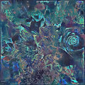Bold Abstract Floral Painted Design In Blue And Green Royalty Free Stock Photography - 79046537