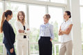 Business Women Meeting At Office And Talking Stock Image - 79056791