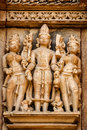 Famous Sculptures Of Khajuraho Temples, India Stock Images - 79060614