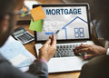 Mortgage Property Login Page Web Graphic Concept Royalty Free Stock Image - 79091996