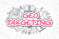 Geo Targeting - Doodle Magenta Word. Business Concept. Stock Photo - 79098800