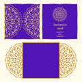 Laser Cut Card Template Royalty Free Stock Images - 79098849