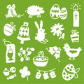 Easter Icons - Silhouettes Stock Image - 7912451