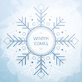Winter Card With Beautiful Geometric Snowflake. Grunge Style Background. Royalty Free Stock Photos - 79101888