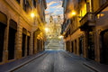 Road To Spanish Stairs Royalty Free Stock Image - 79110256