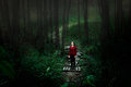 The Girl In The Woods. Loneliness Concept Royalty Free Stock Image - 79112976