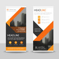 Orange Black Triangle Business Roll Up Banner Flat Design Template ,Abstract Geometric Banner Template Vector Illustration Set, Royalty Free Stock Image - 79117746