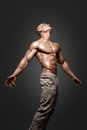 Strong Athletic Man Fitness Model Torso Showing Six Pack Abs. Royalty Free Stock Images - 79119739