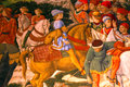 Fragment Of Medieval Fresco In Palazzo Medici Riccardi, Florence Royalty Free Stock Photography - 79154787