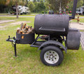 A First Class Barbecue On Wheels Stock Photos - 79169003