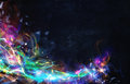 Modern Abstract Motion Banner On Dark Background Royalty Free Stock Image - 79183076