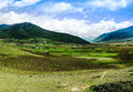 Landscape Of Mountain Phobjikha Valley, Bhutan Himalayas Royalty Free Stock Photos - 79190498