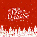 Greeting Card With  Christmas Trees Stock Images - 79195374