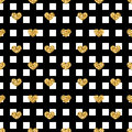 Golden Hearts Stripes Seamless Pattern Stock Photos - 79197163