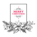 Christmas Garland. Vector Hand Drawn Illustration With Holly, Mi Royalty Free Stock Photo - 79199045
