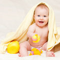 Infant With Rubber Duck Royalty Free Stock Images - 7927369