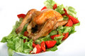 Roast Chicken On A Bed Of Salad Stock Photos - 7928203