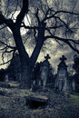 Gothic Scene With Opened Tomb Royalty Free Stock Photo - 7928555