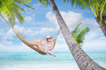 Girl In Hammock Royalty Free Stock Photo - 79232025