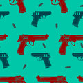 Colored Guns Seamless Pattern Royalty Free Stock Photo - 79249605
