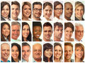 Set Of People Faces. Stock Photography - 79273852