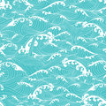 Whale Swimming In The Ocean Waves, Pattern Seamless Background  Royalty Free Stock Photography - 79285547