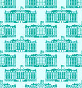 White House America Seamless Pattern. US President Residence. Go Royalty Free Stock Photos - 79296918