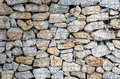 Wire Gabion Rock Fence. Metal Cage Filled With Rocks. Royalty Free Stock Image - 79297346