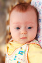 Little 4-months Boy Looking Down Royalty Free Stock Photo - 7936025