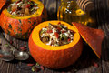 Sweet Rice With Dried Fruit And Nuts In A Pumpkin Royalty Free Stock Images - 79307799