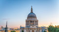 London At Dusk. Magnificence Of St Paul Cathedral Royalty Free Stock Photo - 79311275