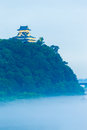 Inuyama Castle Mist Kiso River Evening Royalty Free Stock Photo - 79340405