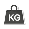 Weight Kilogram Isolated Icon Royalty Free Stock Images - 79340779